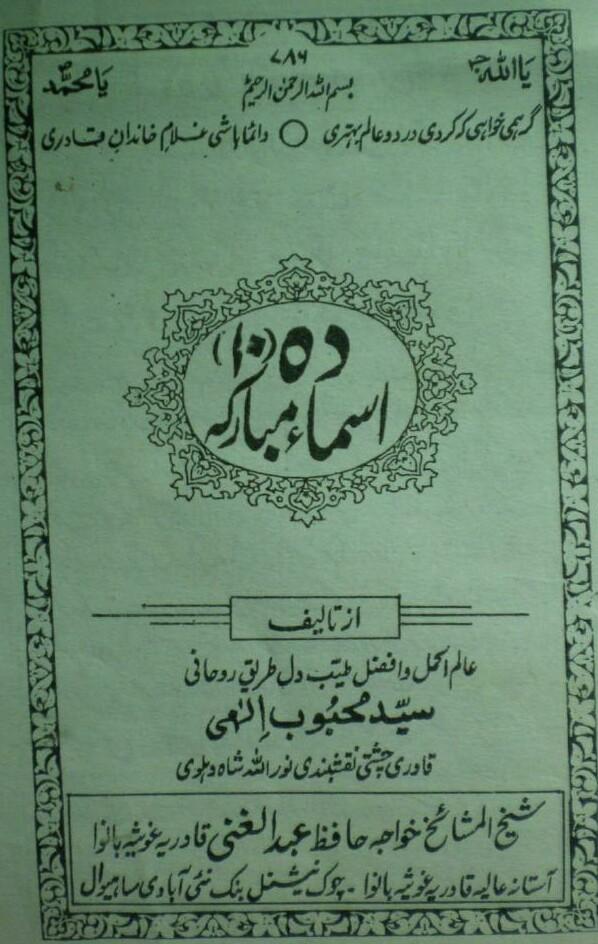 10 Asma e Mubarka PDF Free Download