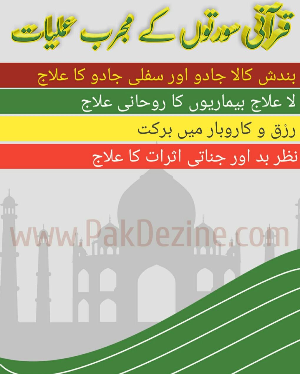 Qurani Suraton K Mujrab Amliyat PDF Free