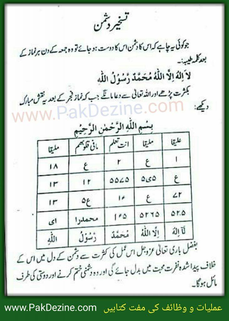 Taskher e Dushman in Urdu and Hindi